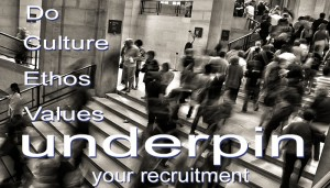 do culture, ethos & values underpin your recruitment